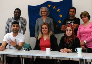 Participants from the language training course: Europe through their eyes